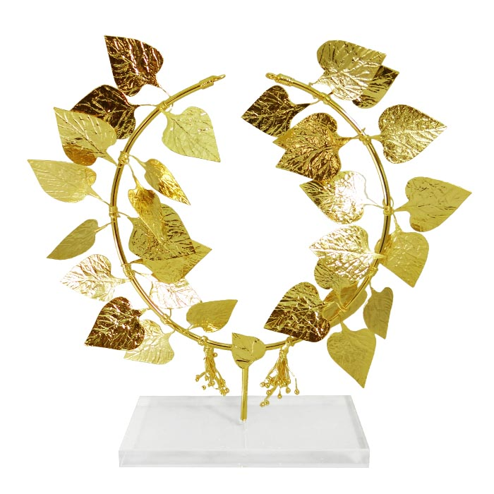 office home by category wreaths ivy wreath gold plated