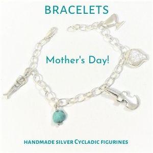 Cycladic Silver Bracelet, Mother's day on muma.gr