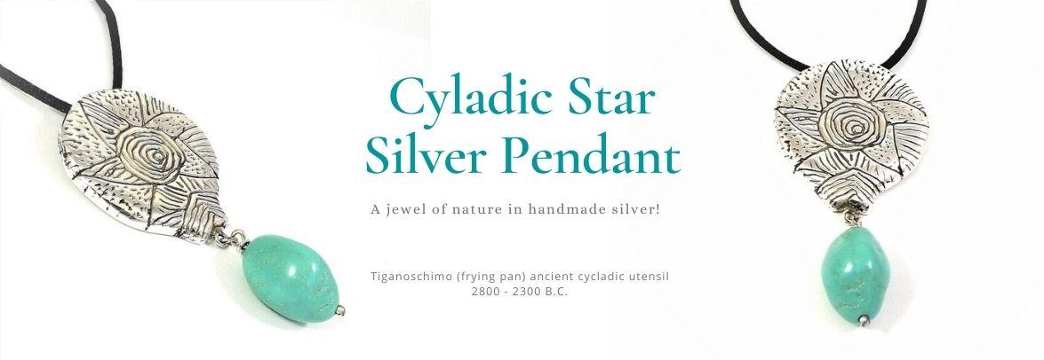 Tiganoschimo Silver pendant with tirquaz