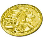 """Constantinato"" lucky coin,  Gold-plated Silver"