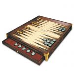 The Backgammon of the Byzantine Emperors, Board made of walnut, popla and maple tree.
