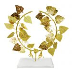 Ivy Wreath, 24K Gold-plated copper on an acrylic base.