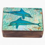 The Ship fresco dolphins, depicted on a wooden box