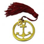 Anchor Charm, Solid bronze gold-plated in gold solution 24K