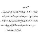 Snell font laser engraving