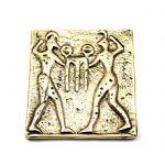 Apollo and Hercules, Brass Paper Weight, Handmade.