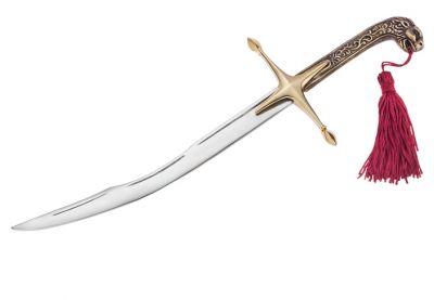 Theodoros Kolokotronis sword miniature with lionhead handle of the original sword. Handmade solid brass handle and arzanto blade.