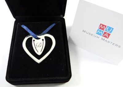 Heart, Bookmark, Silver 925° with engraving in velvet case