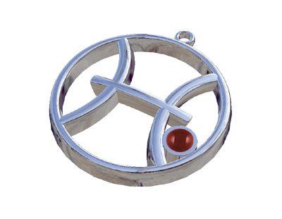 Ιχθύες - Ίασπις, Ζώδια, Παντατίφ σε ασήμι 925°.