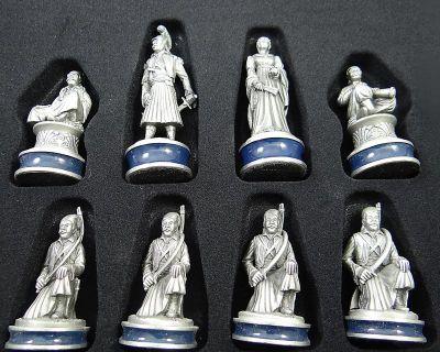 Το Σκάκι της Επανάστασης του 1821, Αλαβάστρινη σκακιέρα, με πιόνια από κασσίτερο.