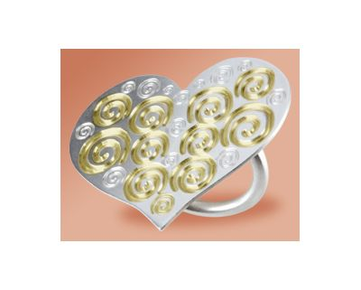 Endless Love, Ring, Silver 925° & 24K Gold-plating