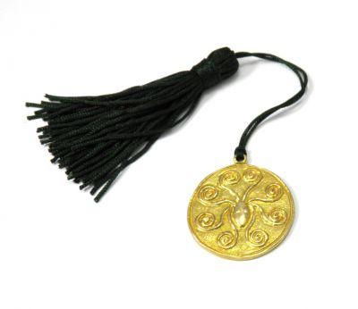 Octopus Mycenaean golden hair decoration, Charm 2018,  handmade shiny solid brass
