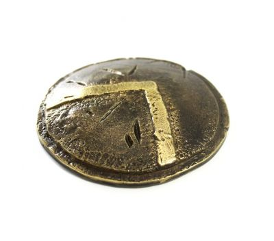 Shield of Lacedaemon, the shield of Leonidas, Paper Weight, handmade brass with patina