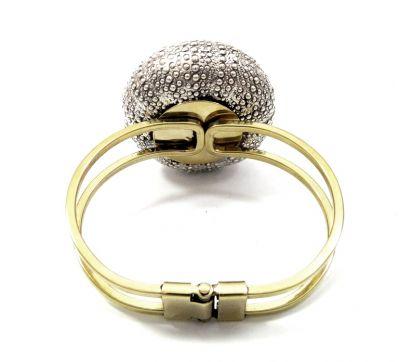 Sea Urchin bracelet, handmade silver 999° natural urchin copy placed on brass bracelet