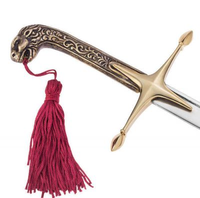 The sword of Theodoros Kolokotronis with the solid brass lionhead handle and arzanto blade.