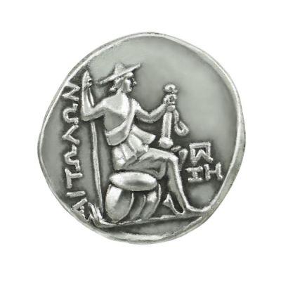 Silver Tetradrachm Coin of Aetolia, Silver-plated copy