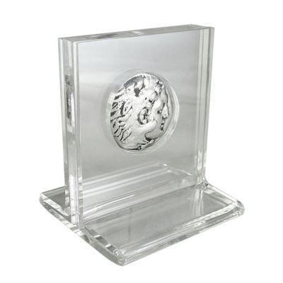 Silver Tetradrachm Coin of Aetolia, Silver-plated copy in acrylic case