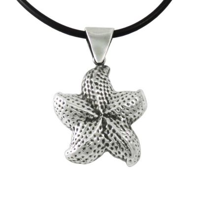 Starfish, Pendant in the shape of a starfish, in silver 999°.