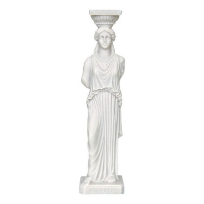 Caryatid, Statue made of casted alabaster.