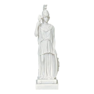 Goddess Athena, Statue made of casted alabaster.