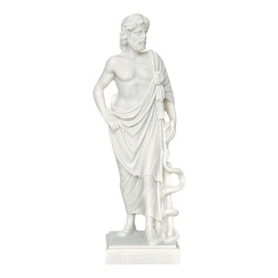 Asclepius, Statue made of casted alabaster.