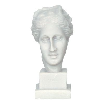 Head of Hygieia,  made of casted alabaster.