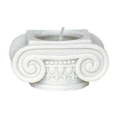 Capital, Candlestick made of casted alabaster.