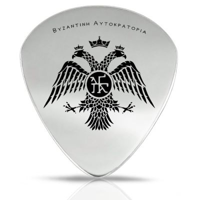 Double-headed Eagle, Handmade Guitar pick, Solid Silver 925°.