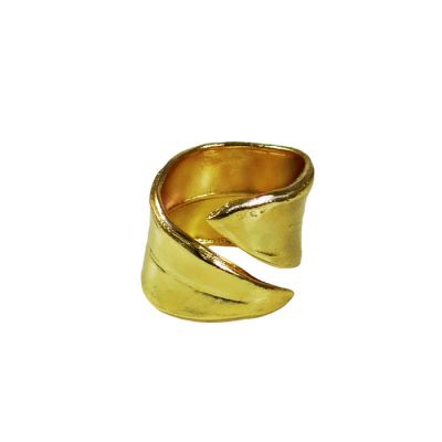 Olive Leaf Ring, Gold-plated 24K