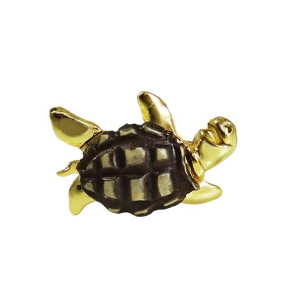 Turtle, Brass Gold-plated Ring 24K