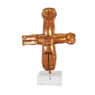 Crossed-shape figurine, Cyprus, Copper on acrilic base