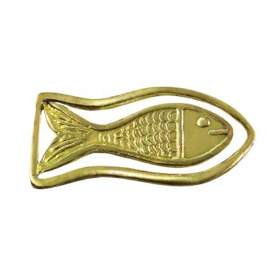 Fish Relief, Bookmark made of brass.