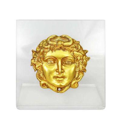 Gorgoneio, Vergina, Gold-plated 24K Copper plaque on an acrylic back (plexiglass).