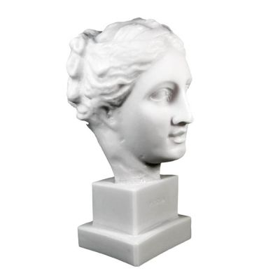 Head of Hygieia, Bust made of alabaster.