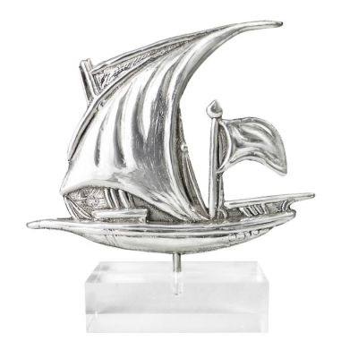 Latini, Sailing Ship, Silver 999° on acrylic base.