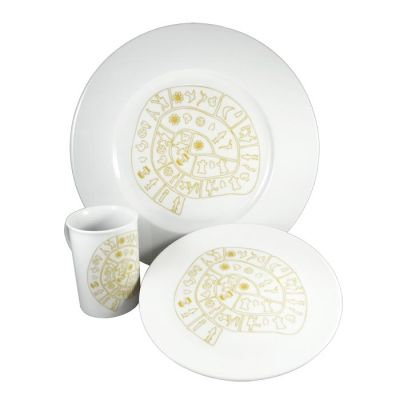 Phaistos Disc, Dinner set made of Bohemian porcelain.