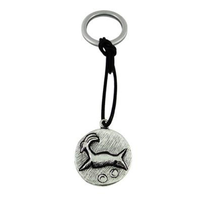 Signet Ram from Phaistos Crete, Silver-plated Key-Ring