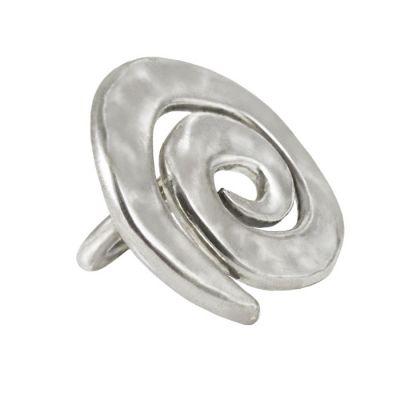 Spiral Ring, Silver 999ο