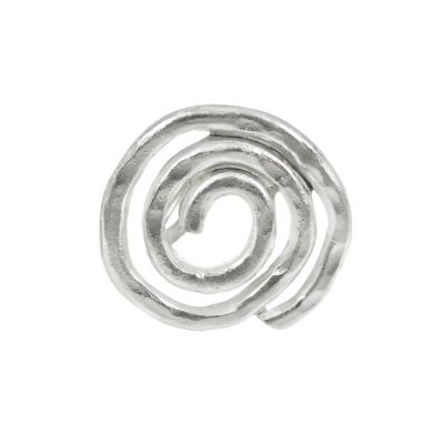 Spiral Thin Ring, Silver-plated