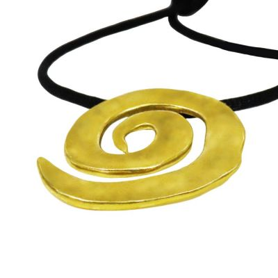 Spiral Pendant, Gold-plated