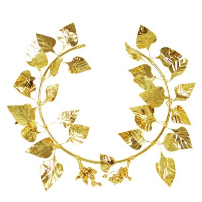 Ivy Wreath, 24K Gold-plated Copper, mounted on an acrylic back.