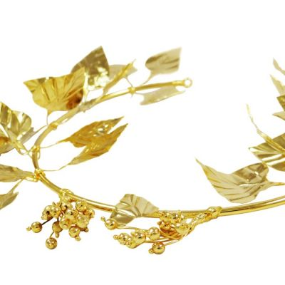 Ivy Wreath, 24K Gold-plated Copper.