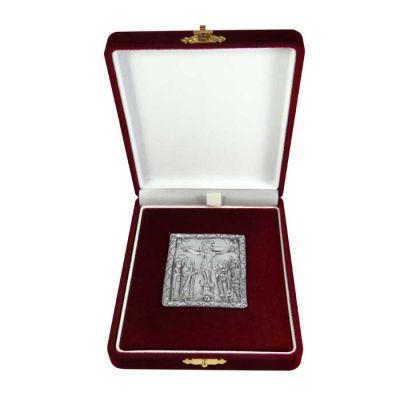 Jesus Washing the Feet of the Apostles, Kykkos, Silver 999°, icon in burgundy velvet case