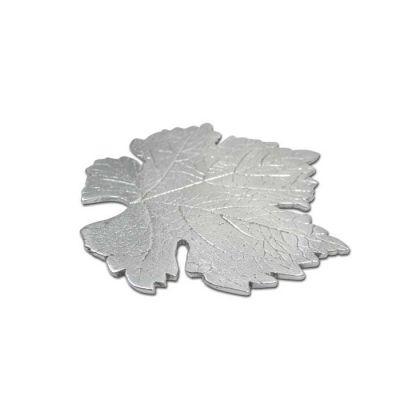 Vine leaf coaster. Recycled Aluminum