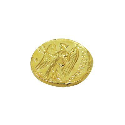 Χρυσός Στατήρας του Μεγάλου Αλεξάνδρου, αντίγραφο σε μασίφ ορείχαλκο επίχρυσο 24 καράτια.