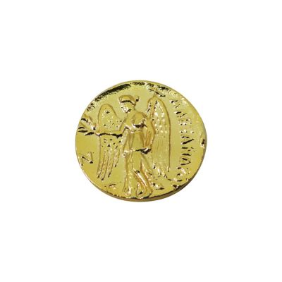 Gold Stater Coin of Alexander the Great, Gold-plated brass