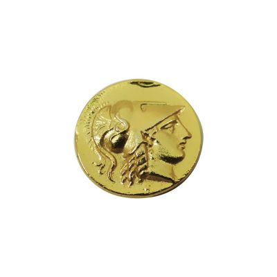 Gold Stater Coin of Alexander the Great, Gold-plated 24k solid brass.