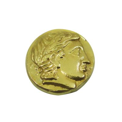Gold Stater Coin of Philip II of Macedon, Gold-plated brass