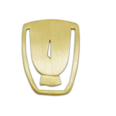 Lucky Charm, Head of Cycladic Figurine, Gold-plated 24K brass, Bookmark