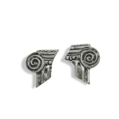 Capital, Earrings handmade solid silver 925°.